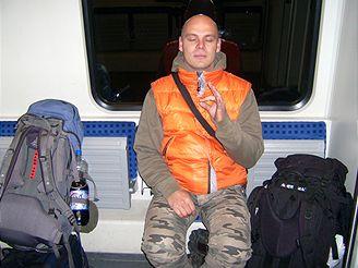 Budhista ve vlaku