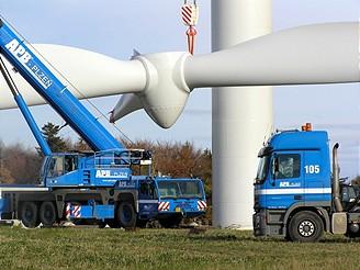Výstavba větrné elektrárny u Drahan