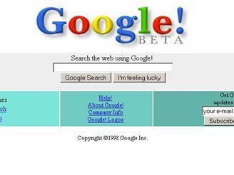 Google homepage - 1998