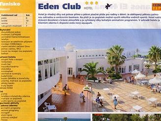 Nabídka v katalogu Exim Tours - hotel Eden Club