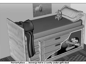 Upraven� postel, ve kter� pedofil spal