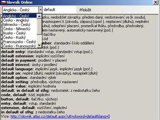 Online slovník