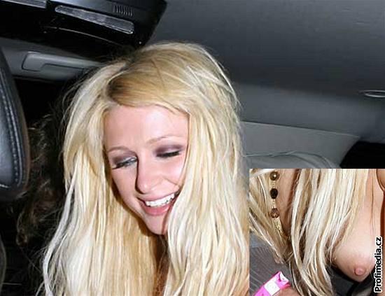 Paris Hiltonová opět ukázala ňadro