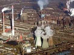 Hutní komplex ArcelorMittal v Ostravě.