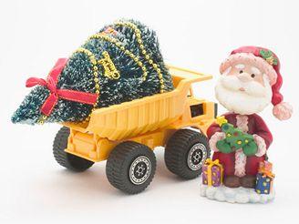 Vánoce, vánoční stromek, santa claus