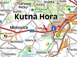 mapa kutna hora