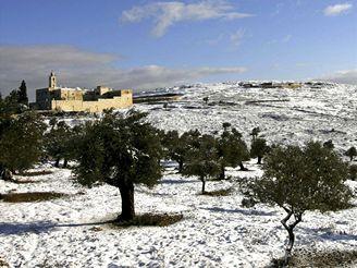 Pravoslavný klášter poblíž jeruzaléma.