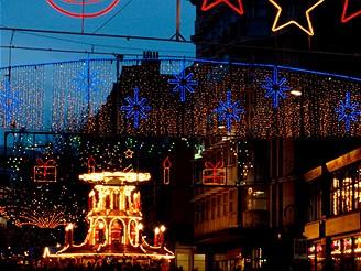 Vánoční osvětlení, Birmingham, Velká Británie