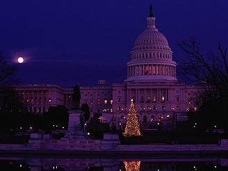 Vánočná atmosféra před Kapitolem, Washington