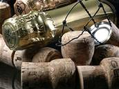 Sekt, šumivé víno, korek