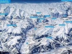 Zillertal - mapa