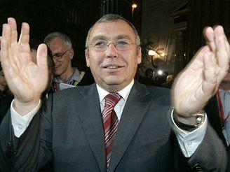 Šéf rakouských sociálních demokratů Alfred Gusenbauer