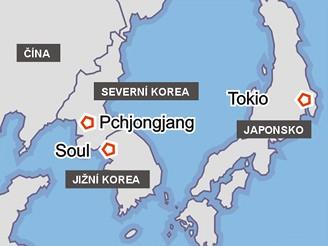 Severní Korea, Jižní Korea, Japonsko, Čína