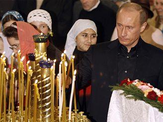 Vánoční mše se zúčastnil i ruský prezident Vladimir Putin