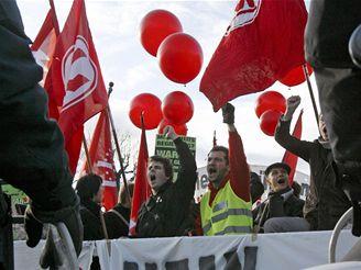 Studentská protivládní demonstrace ve Vídni
