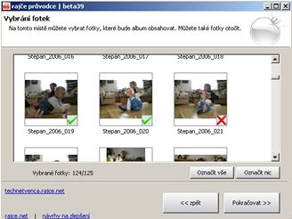 rajce.net - volba fotek