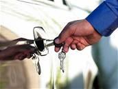 klíče, zámek, auto. ilustrace