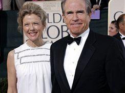 Annette Beningová s manželem Warrenem Beattym