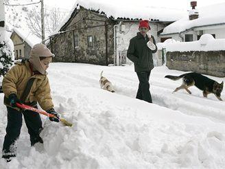 Sněhová kalamita ve Španělsku