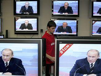 Ruský prezident Putin v televizi