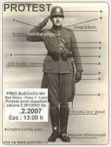 Plakát k demonstraci policistů