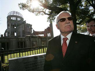 Prezident Klaus na návštěvě Hirošimy