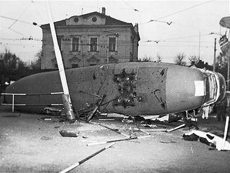 nehoda tramvaje 17. února 1982 na Špejcharu
