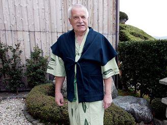 Václav Klaus po lázni