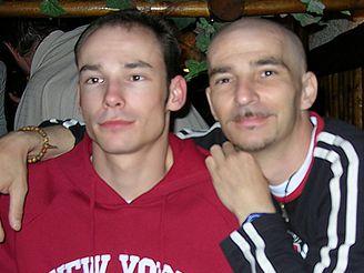 Radek Hanykovics (vpravo) s bratrem