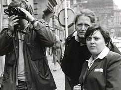 Helena Třeštíková při natáčení dokumentu o Marcele.