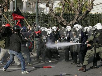 Řecké demonstrace vysokoškoláků