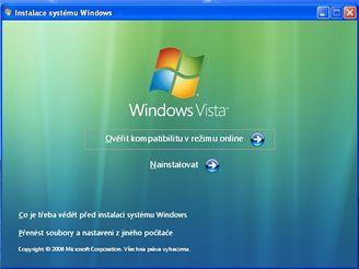 Instalace Windows Vista