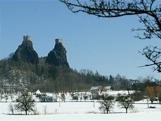 Český ráj v zimě, Trosky