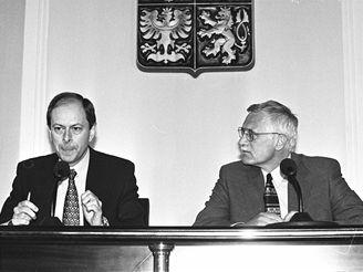 Josef Tošovský a Václav Klaus