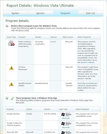 Windows Vista Advisor