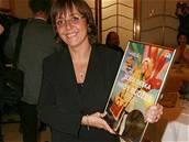 Herečka Barbora Hrzánová se zlatou deskou za CD Hrdý Budžes
