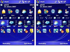 Weather Tab - předpověď počasí