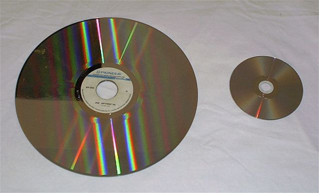 LaserVision disk a DVD