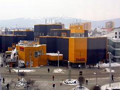 Liberec, současný obchodní dům Tesco v centru