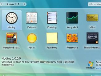 Miniaplikace ve Windows Vista