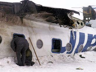 Tupolev po tvrdém přistání