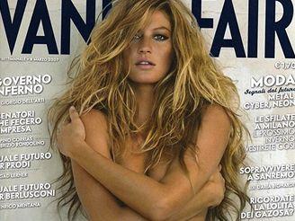 Topmodelka Gisele Bündchenová na obálce magazínu Vanity Fair.