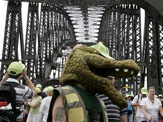 Oslavy 75. výročí od otevření Pobřežního mostu v Sydney