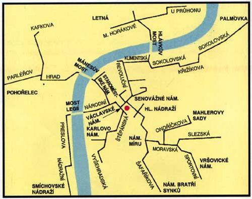 mapa potrubni pošty
