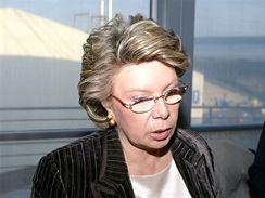Vivian Redingová v otevřené diskusi s novináři