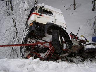 nehoda kamionu před Bumbálkou