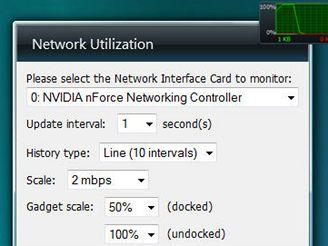 Miniaplikace Windows Vista