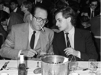 Sarkozy s Jacquesem Chirakem. Rok 1981