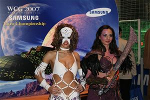 CeBIT - Samsung WCG 2007 hostesky