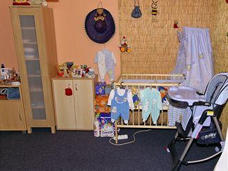 Dětský koutek v bytě Martiny Balogové